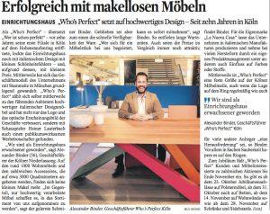 Erfolgreich mit makellosen Möbeln_WP Kölner Stadtanzeiger