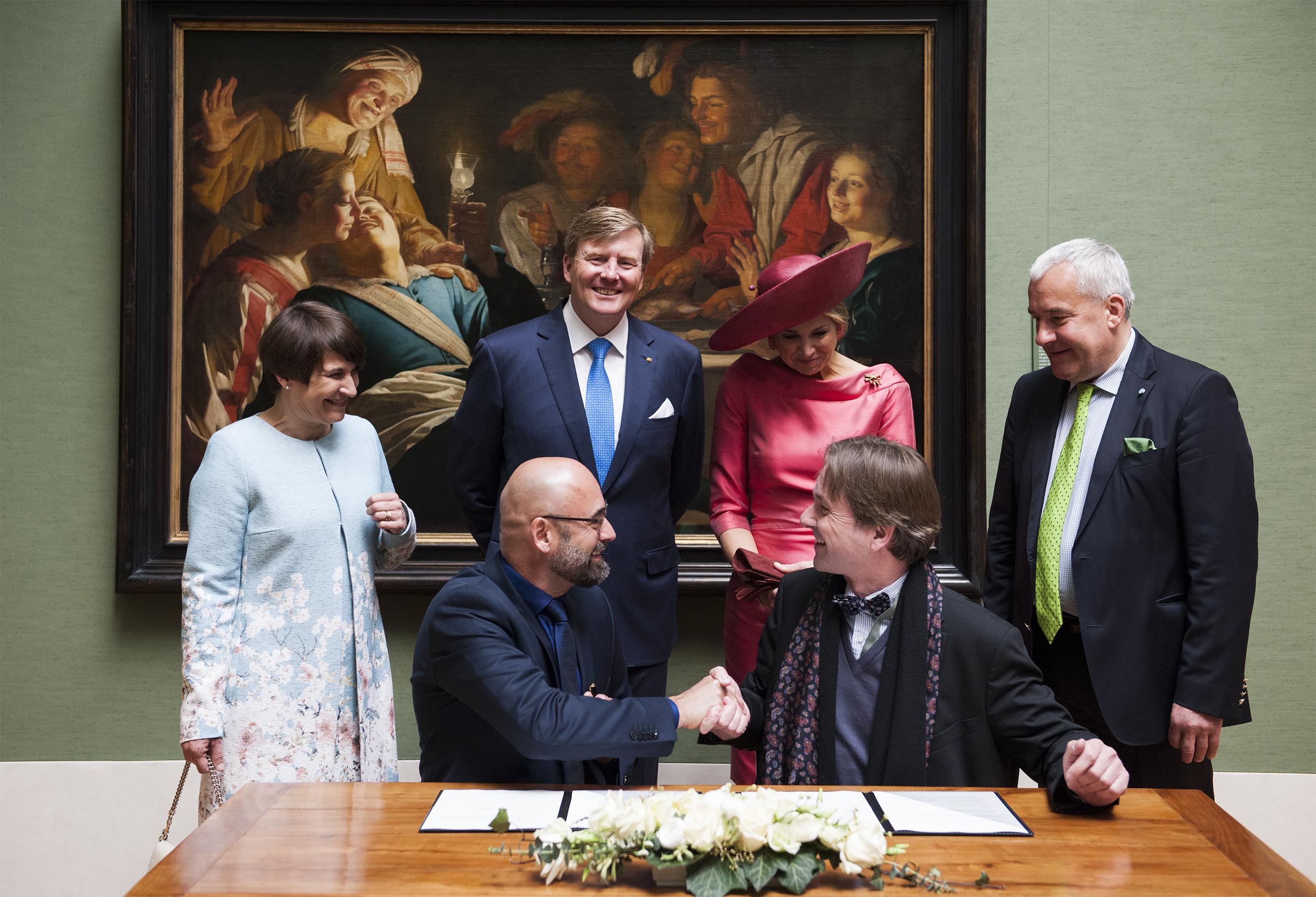 Pinakotheken Bernhard Maaz und Niederländisches Königspaar