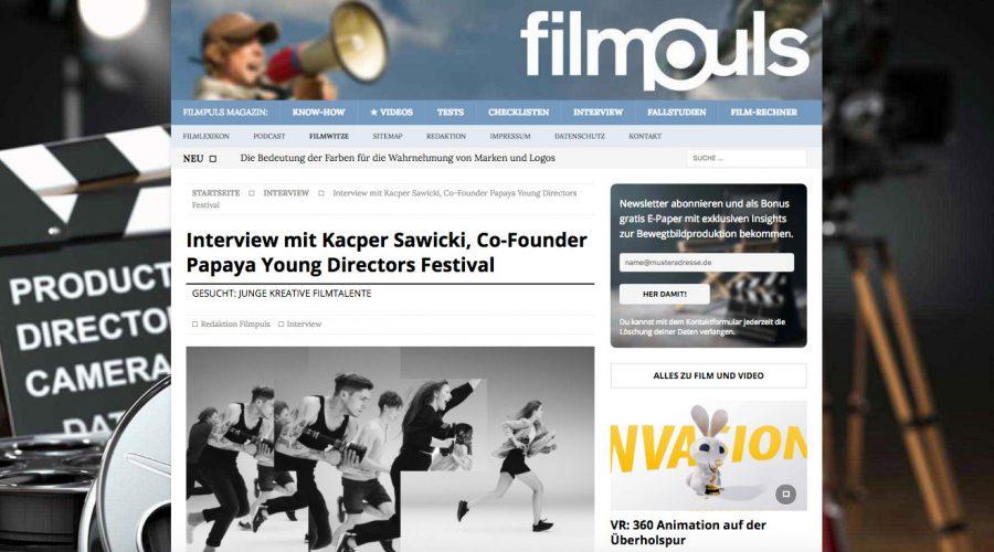 Interview mit Kacper Sawicki @ Filmpuls